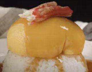 【料理】くす玉 かに玉オムライスが美味しそう!