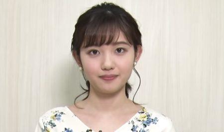 145cm顔の田中瞳アナウンサーが前向きな言葉を朗読